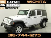 Clean CARFAX. Bright White Clearcoat 2013 Jeep Wrangler