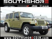 Clean CARFAX. 2013 Jeep Wrangler Unlimited Sahara