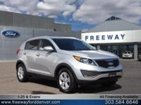 Bright Silver 2013 Kia Sportage LX AWD 6-Speed