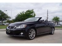 We are excited to offer this 2013 Lexus IS 250C. CARFAX