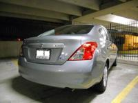 2013 Nissan Versa S sedan, 'Magnetic Gray' with black