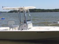 Cream 2013 Sportsman 227, 250hp SHO Yamaha, LOW hours.