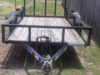 2013 5'x10' Top Hat Open Trailer Motorcycle Ready!