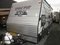 2013 Wolf Pup 17RP TOY HAULER Light weight and easy to
