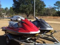 2- 2013 Yamaha VX1100 Deluxe Waverunners, being sold as