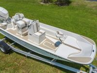 This one-of-a-kind 17 foot Boston Whaler Montauk has