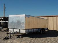 Enclosed 20 Foot Long by 80 Inch Wide Tandem Axle