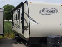The 2014 i-Go 220RB is a lightweight travel trailer.