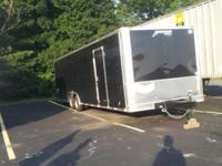 28' Homesteader enclosed black trailer 4 months old