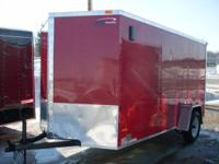 WE HAVE HERE A BRAND NEW 2014 6X12 ENCLOSED CARGO