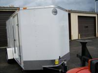 NEW 2014 FASTRAC BY WELLS CARGO 6X12 WHITE IN COLOR,