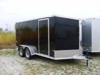 WE HAVE HERE A BRAND NEW 7X14 ALUMINUM ENCLOSED CARGO