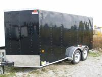 WE HAVE HERE A BRAND NEW 7X14 ENCLOSED CARGO TRAILER