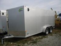 WE HAVE HERE A BRAND NEW 7X16 ALUMINUM ENCLOSED CARGO