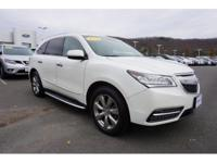 2014 Acura MDX 3.5L White Diamond Pearl. Advance Pkg