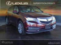 Clean CARFAX. 2014 Acura MDX 3.5L Technology Package