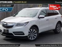 This 2014 Acura MDX 4dr AWD 4dr Tech Pkg features a