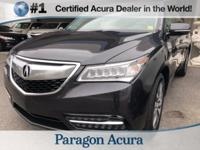 Local Trade In! Certified. 2014 Acura MDX 3.5L