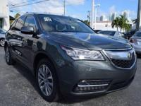 One-Owner Local Trade-in!. MDX 3.5L Technology Package,