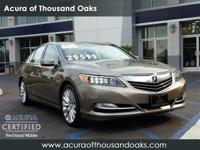 Options:  2014 Acura Rlx Advance Pkg|Gold/|V6 3.5 L