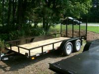 """2014 American LS14TA LS14TA 6'10"""" X 14' wood deck/"""