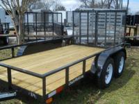 """2014 American LS14TA LS14TA 6'4"""" X 14' wood deck/ 7000#"""