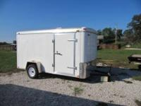 6'x 12' enclosed trailer, double rear doors, 3500 lb