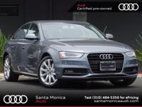 AUDI CERTIFIED! 2014 Audi A4 Monsoon Gray with Black