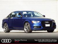 Audi Certified! 2014 Audi A4 Manual quattro! Scuba Blue