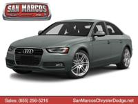 Boasts 29 Highway MPG and 20 City MPG! This Audi A4