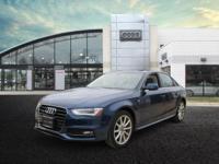 2014 Audi A4 2.0T Premium Plus Scuba Blue Metallic 2.0L