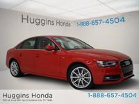 2014 Audi A4 Brilliant Red 2.0T Premium Plus CARFAX