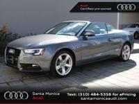 Audi Certified and Titanium Gray/S Leather. Looks and