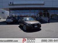 Critics agree, our Carfax One Owner 2014 A6 3.0T AWD on