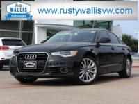 CARFAX One-Owner. Black 2014 Audi A6 3.0T Premium Plus