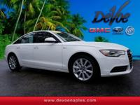 CARFAX One-Owner. Clean CARFAX. Ibis White 2014 Audi A6