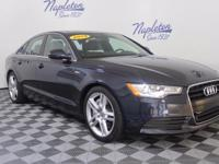 2014 Audi A6 Blue Clean CARFAX. CARFAX One-Owner.