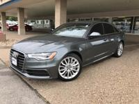 Clean CARFAX. Dakota Gray Metallic 2014 Audi A6 3.0T