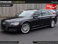 This 2014 Audi A8 L 4dr 4dr Sedan 4.0T features a 4.0L