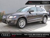 Audi Certified, 2.0L I4 TFSI Direct Injection DOHC,