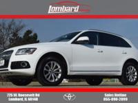 2014 Audi Q5 2.0T Premium Plus in White, **ONE OWNER**,