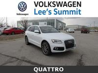 2014 Audi Q5 3.0T Prestige White Titanium Gray Leather.