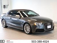 This 2014 Audi RS 5 Cabriolet is offered to you for