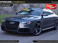 This 2014 Audi RS 5 2dr Coupe features a 4.2L 8