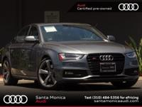 AUIDI CERTIFIED! 2014 Audi S4 Monsoon Gray with Black