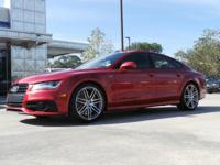 CARFAX One-Owner. Garnet Red Pearl Effect 2014 Audi S7