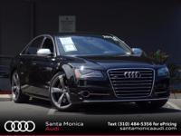 2014 Audi S8 4.0T quattro! Phantom Black with Black