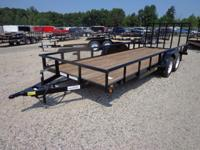 "(989) 607-4841 ext.92 83"" x 20' Open Utility Trailer"