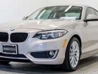 Clean CARFAX. Moonlight 2014 BMW 2 Series 228i RWD 2.0L