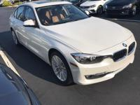 Recent Arrival! 2014 Mineral White Metallic BMW 3